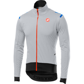 Castelli Alpha Ros Light Jas Heren, silver gray/black